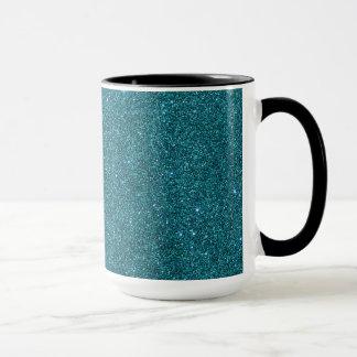 Image de scintillement turquoise à la mode mug