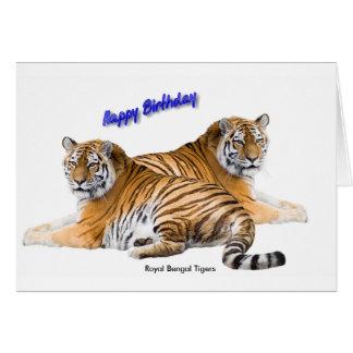 Image de tigre pour carte de vœux