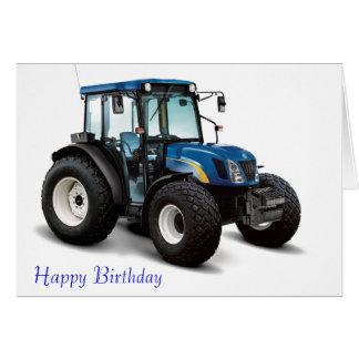 Image de tracteur pour la carte de voeux