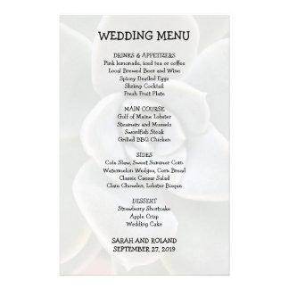 Image décontractée de Succulent de menu de mariage Prospectus 14 Cm X 21,6 Cm
