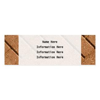 Image des briques carte de visite petit format