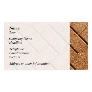 Image des briques carte de visite standard