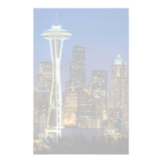 Image d'horizon de Seattle en quelques heures de m Papier À Lettre Customisé