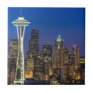 Image d'horizon de Seattle en quelques heures de m Petit Carreau Carré