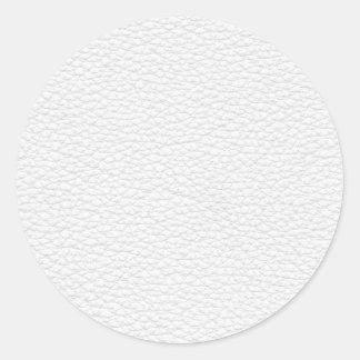 Image du cuir blanc adhésif rond
