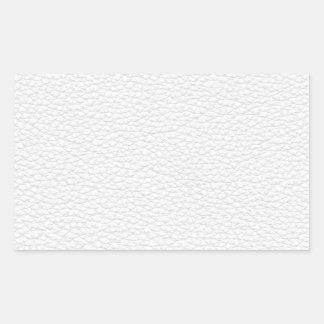 Image du cuir blanc autocollants en rectangle