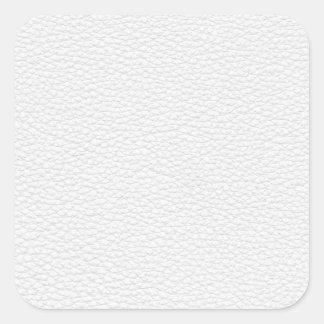 Image du cuir blanc autocollants carrés