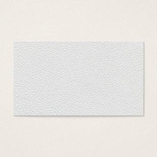 Image du cuir blanc cartes de visite