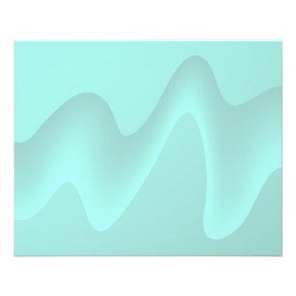 Image en pastel de remous d'abrégé sur turquoise prospectus 11,4 cm x 14,2 cm