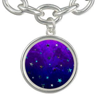 Image étoilée de belle nuit de galaxie de l'espace bracelet