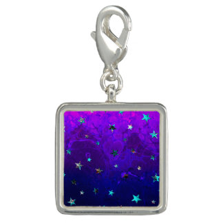 Image étoilée de belle nuit de galaxie de l'espace breloque avec photo