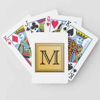 Image faite sur commande de monogramme, couleurs n jeu de poker