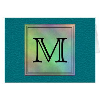 Image faite sur commande imprimée de monogramme cartes de vœux
