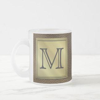 Image faite sur commande imprimée de monogramme. mug en verre givré