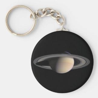 Image merveilleuse de Saturn de la NASA Porte-clé Rond