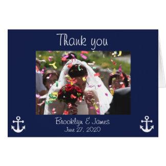 Image nautique de cartes de Merci de mariage de