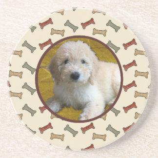 Image personnalisée de coutume d'os de chien de dessous de verre en grès