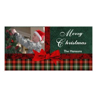 Image personnalisée par coutume de plaid de Noël Photocarte Personnalisée