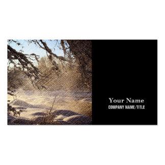 Image renversante de scène de rivière d'hiver carte de visite
