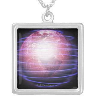Image réseau pendentif carré