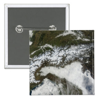 Image satellite de la gamme de montagne d'Alpes Badges