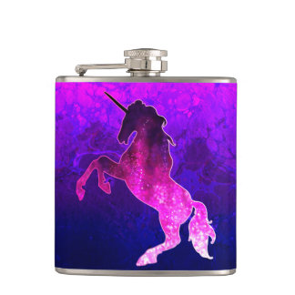 Image scintillante de belle licorne rose de flasques