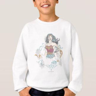 Image tramée de femme de merveille sweatshirt