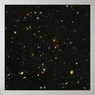 Image ultra profonde du champ de Hubble Affiche