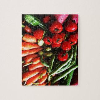 Image végétarienne de légumes de jardin puzzle