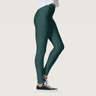 Image verte de fractale leggings