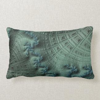 Image verte de fractale sur le carreau de coton coussin décoratif