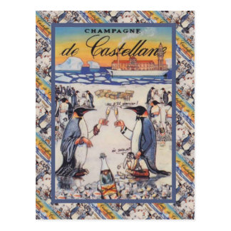 Image vintage, Champagne de Castellane Carte Postale