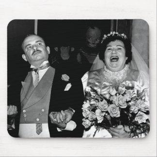 Image vintage de mariage tapis de souris