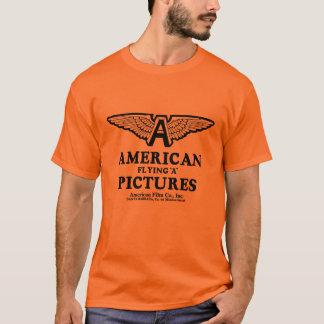 Images américaines pilotant un T-shirt de film de