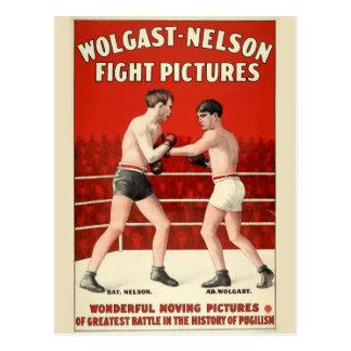 Images de combat du Wolgast-Nelson - affiche Carte Postale