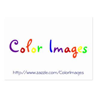 Images de couleur carte de visite grand format