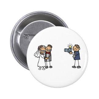 Images de mariage de photographie de photographe badge