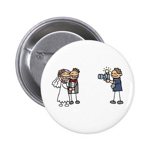 Images de mariage de photographie de photographe d pin's avec agrafe