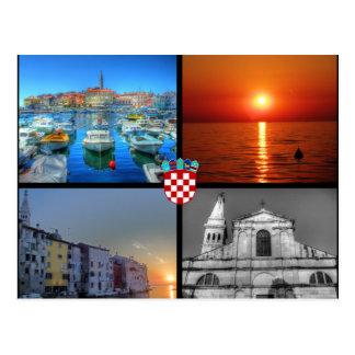 Images de quadruple de Rovinj Carte Postale