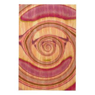 Imaginaire abstrait impression sur bois