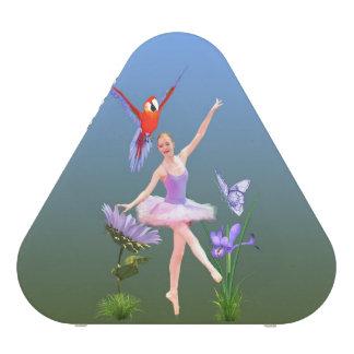 Imaginaire de ballet, fleurs, perroquet, papillon haut-parleur bluetooth