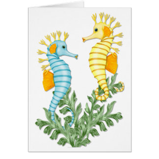 Imaginaire d'hippocampe carte de vœux