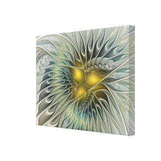 Imaginaire d'or de fleur, art abstrait de fractale toiles