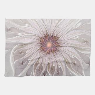Imaginaire floral, fleur en pastel moderne linge de cuisine