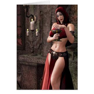 Imaginaire gothique de libations mortelles carte de vœux
