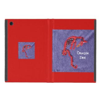 Imaginaire rouge de mythe de dragon coques iPad mini