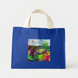 Imaginaire tropical abstrait mini tote bag