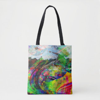 Imaginaire tropical abstrait tote bag