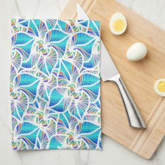 Imaginaires bleus linge de cuisine