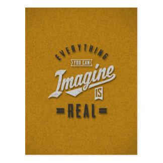 Imagine est de vraies citations inspirées cartes postales